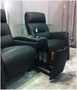 aangepaste bioscoop stoelen